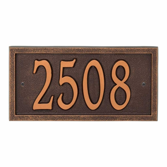 Comfort House Metal Rectangle Address Plaque