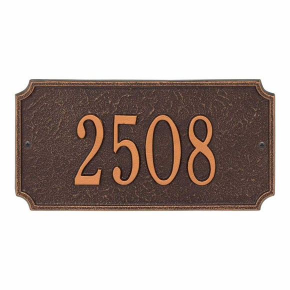 Metal Rectangle Home Address Plaque
