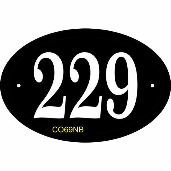 Comfort House Oval Address Sign