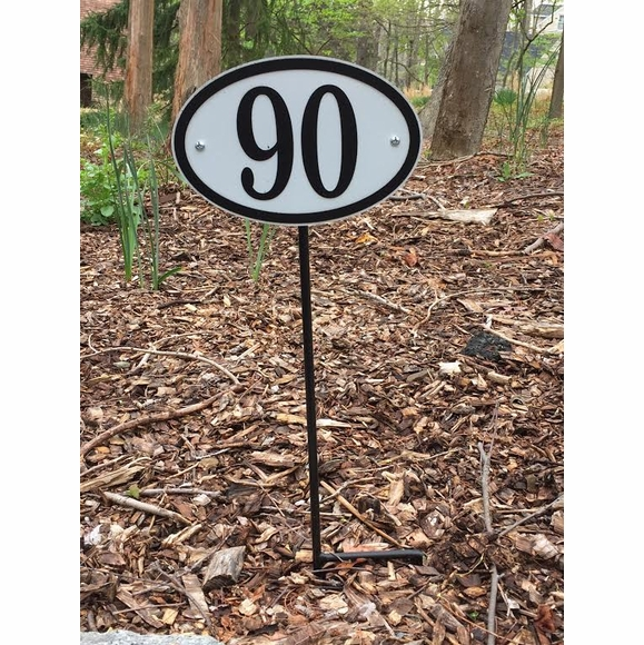 Comfort House Oval Reflective House Number Sign