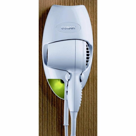 Conair 134 Wall Mount Hair Dryer with Night Light