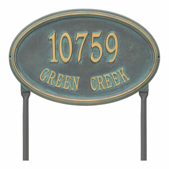 Large Oval House Number Sign Address Plaque