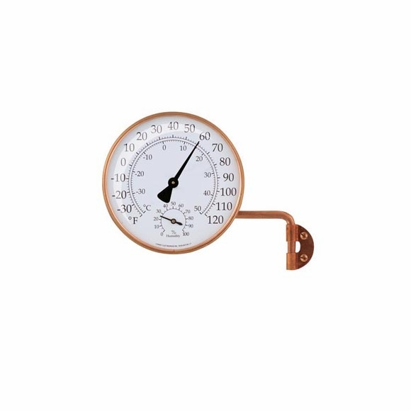 Copper Outdoor Thermometer