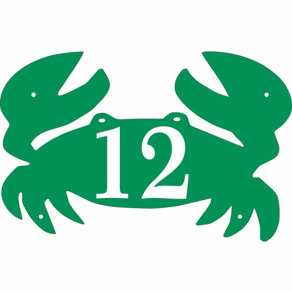 Crab Shape House Number Sign
