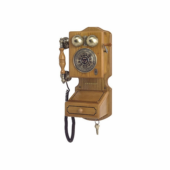 Country Wall Phone : Replica 1920s wood phone
