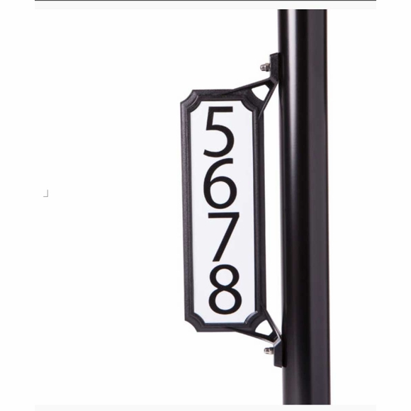Curbside Mailbox House Number Plaque - Mounts To Mailbox, Post, or Pole