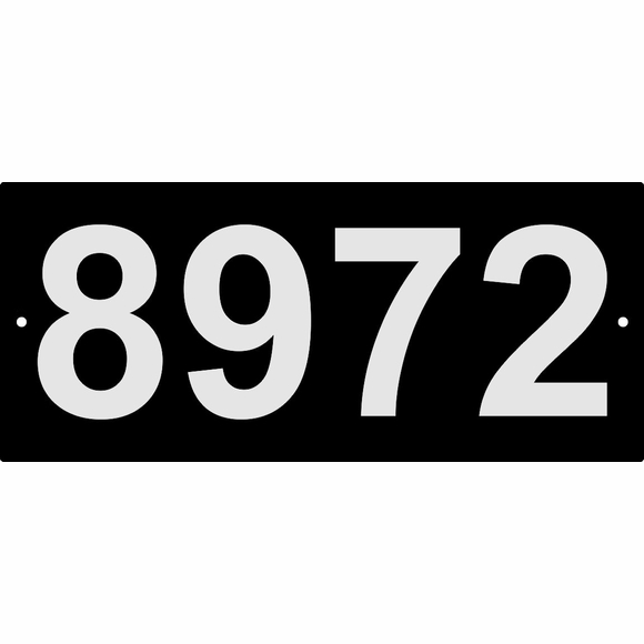 Custom 4 Digit Address Sign with Reflective Numbers, Small Rectangle