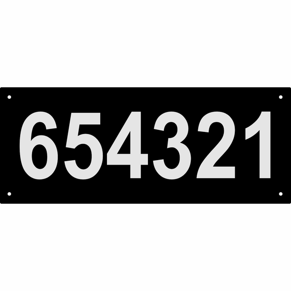 Custom 6 Digit Address Sign with Reflective Numbers, Large Rectangle