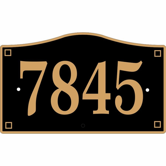 Custom Address Plaque For Wall or Optional Lawn Stake Mount