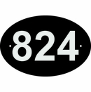 Custom Address Sign with Reflective Characters, Small Oval