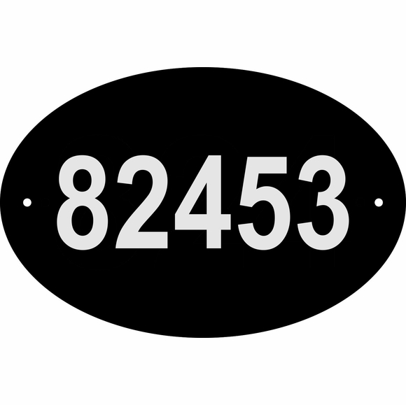 Custom Address Sign with Reflective Characters, Large Oval
