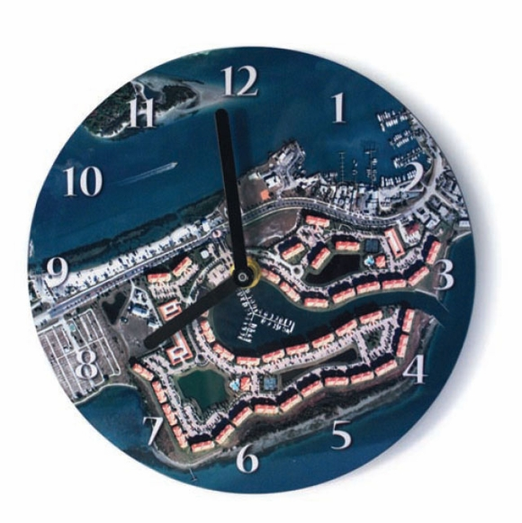 Custom Aerial Map Clock