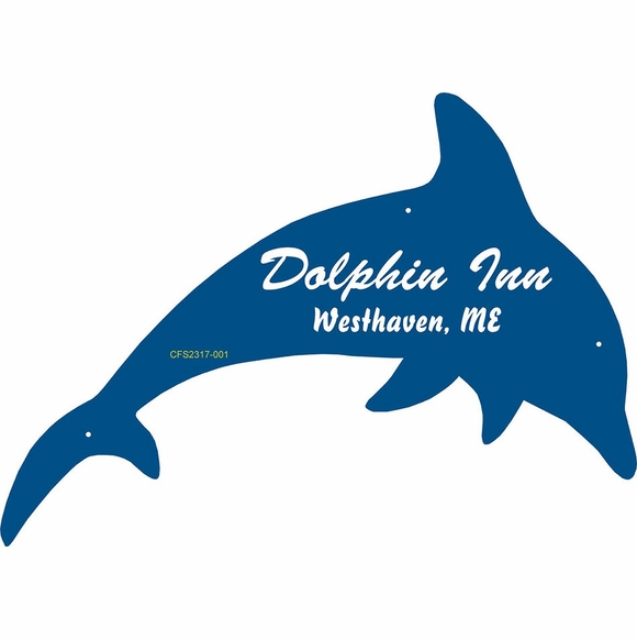 Custom Dolphin Sign For Business Name, House Address, or Other Wording