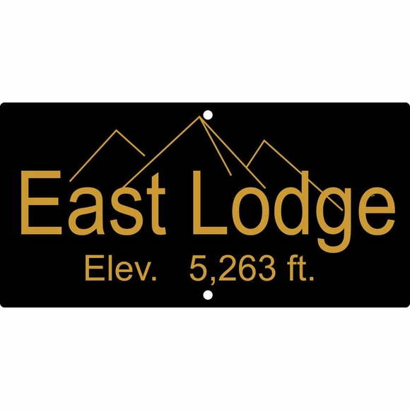 Custom Elevation Sign - Feet Above Sea Level Plaque