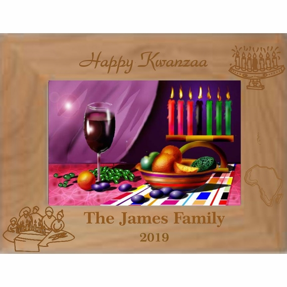 Personalized Happy Kwanzaa Picture Frame