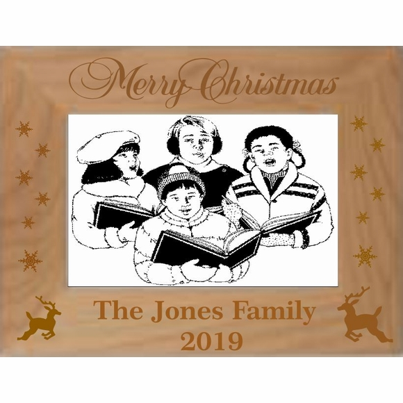 Custom Engraved Personalized Christmas Picture Frame