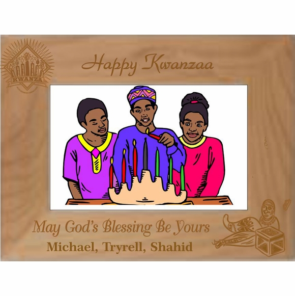 Happy Kwanzaa Personalized Picture Frame
