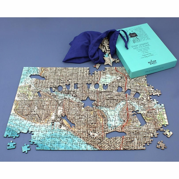 Custom Father's Day Map Jigsaw Puzzle - I Love You Dad Puzzle