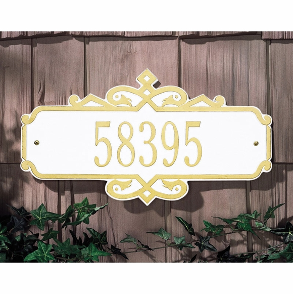 Custom House Numbers Plaque With Decorative Border