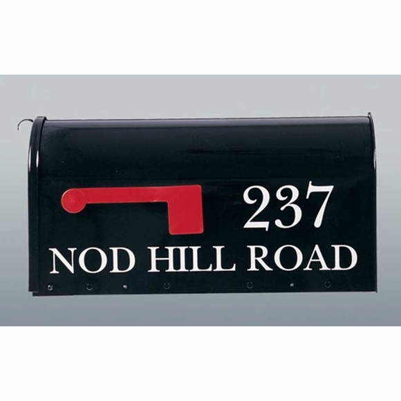 House Number Address Lettering Kit for Curbside Mailbox