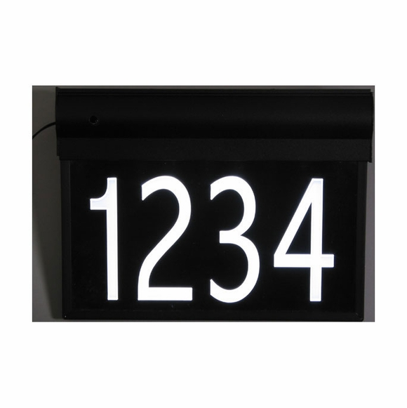 Lighted House Number Sign With Street Name
