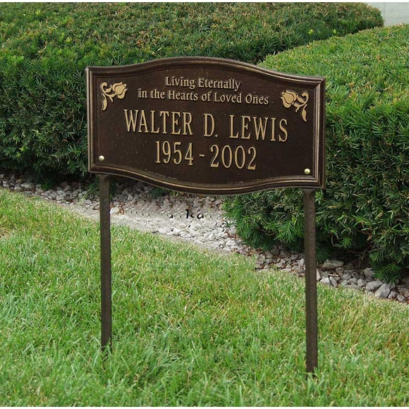 Custom Living Eternally Memorial Lawn Plaque