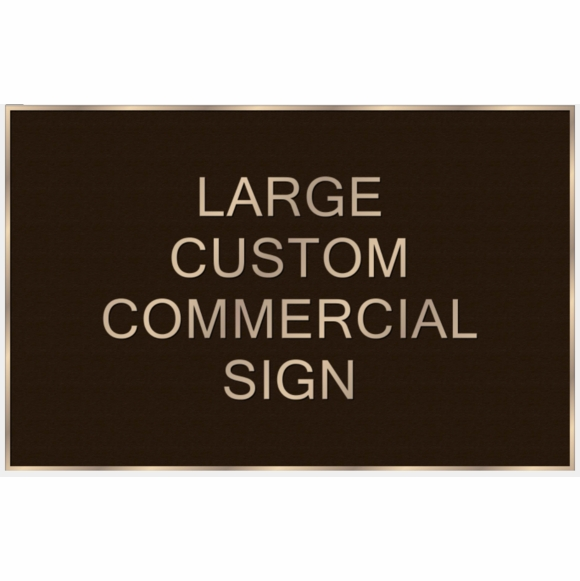 Custom Cast Metal Sign - Extra Large Plaque For Business Name, Property Statement, or Address
