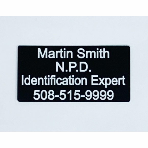 Custom Name Plate For Case and Box - Identification, Property Of, Contents Adhesive Label