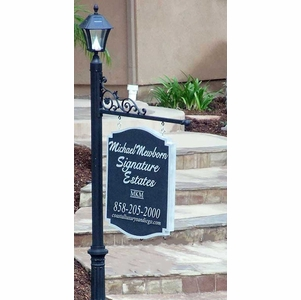 Custom Real Estate Signage System with Solar Lamp