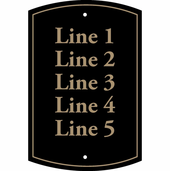 Custom Sign With 5 Lines - Multi Unit Address Numbers, Room Numbers, Building Numbers, Text, etc.