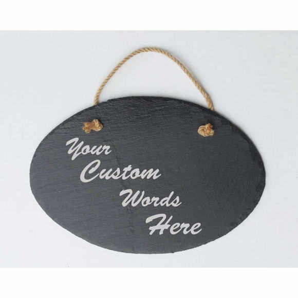 Custom Slate Sign - Personalized Plaque With Your Own Message - Hang on Post or Wall