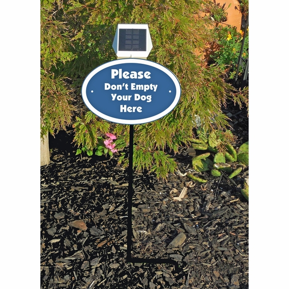 Custom Lawn Sign With Solar Light