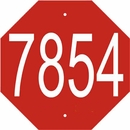 Custom Stop Sign Shape House Number Plaque