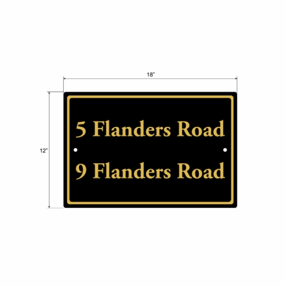 Custom Metal Sign For Address, Shared Driveway, Business Name, Wayfinding, No Soliciting, Etc.