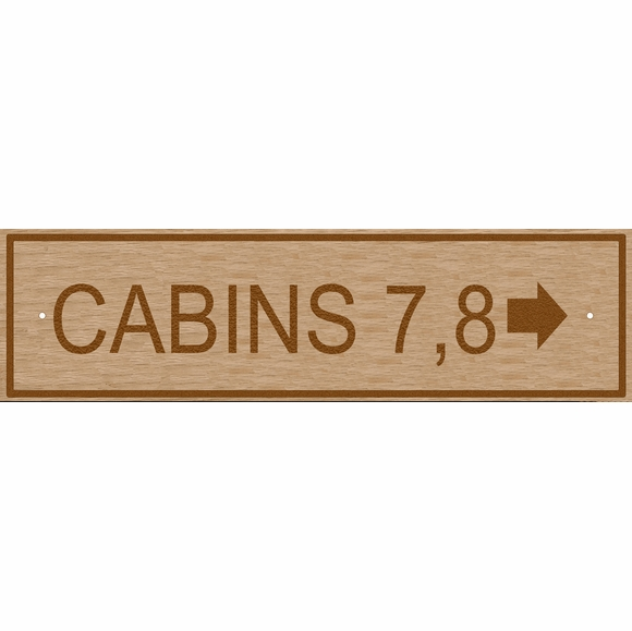 Custom Wooden Sign With Arrow For Building Number, Room Number, Cabin Number, etc.