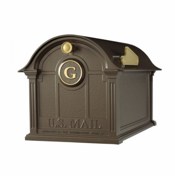 Decorative Curbside Mailbox with Monogram