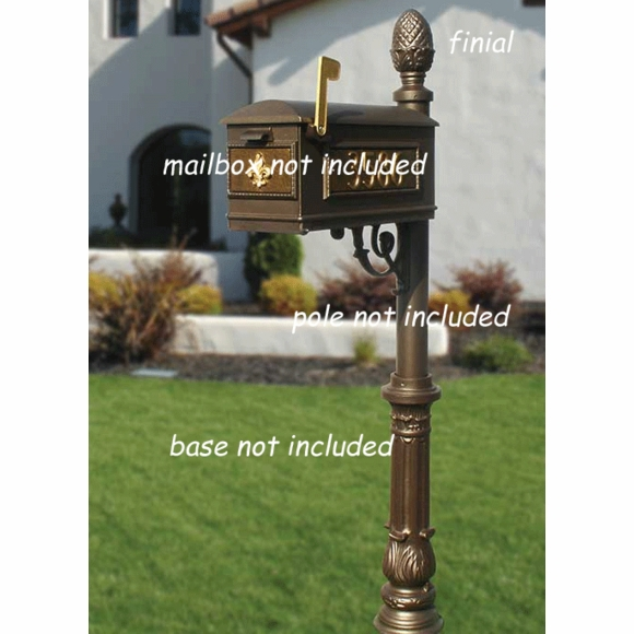 Decorative Finial for Outdoor Post - Pineapple, Ball, or Horsehead