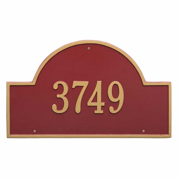 Decorative Metal Address Sign Personalized With Your House Number