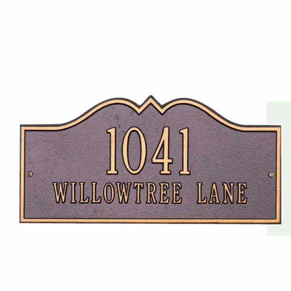 Decorative Rectangle Address Sign - Choose Your Size And Color - For Wall or Optional Lawn Mount