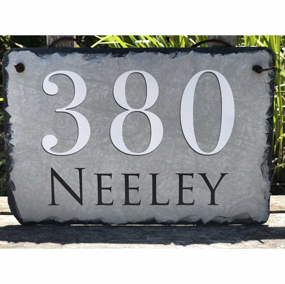 Decorative Slate Address Plaque