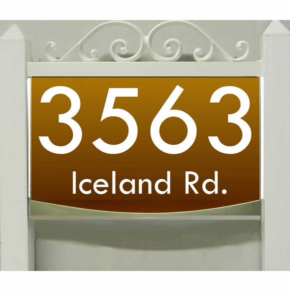 LED Lighted Yard Address Sign - Choose 120V, Low Voltage, or Solar