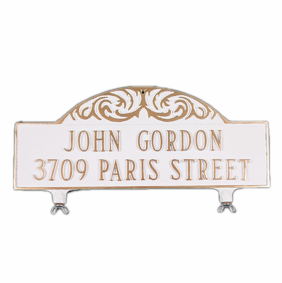 Personalized 2 Line Mailbox Address Sign - Double Sided Mailbox Topper House Number Plaque