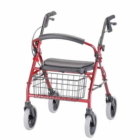 Deluxe Rolling Walker - Lightweight With Handbrakes