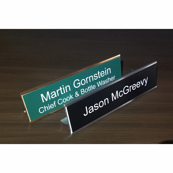 Desk Stand for Name Plate or Identification Tag