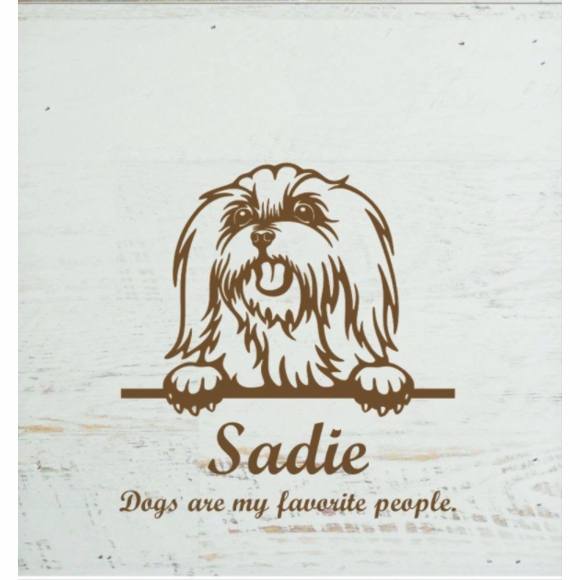 Personalized Dog Wall Plaque - Wall Box or Tabletop Decor With Dog Face Image, Name, Custom Text