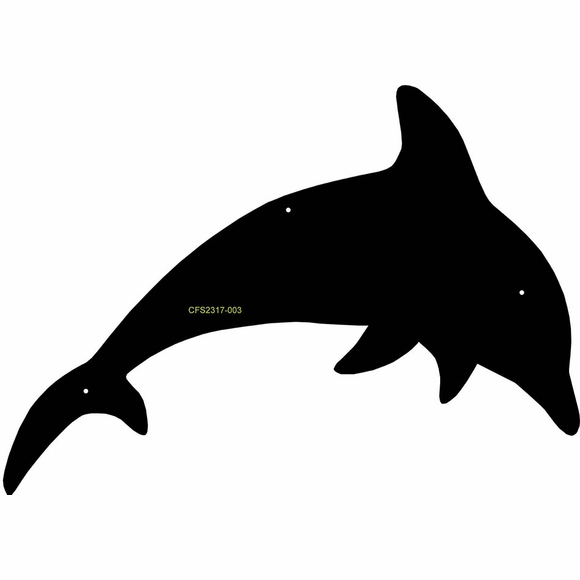 Dolphin Shape Wall Art Plaque