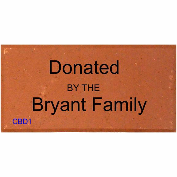 Donated By Engraved Brick - Personalized Donation Brick