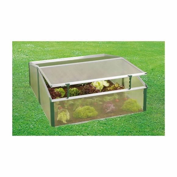 Double Cold Frame Mini Greenhouse Protects Seedlings
