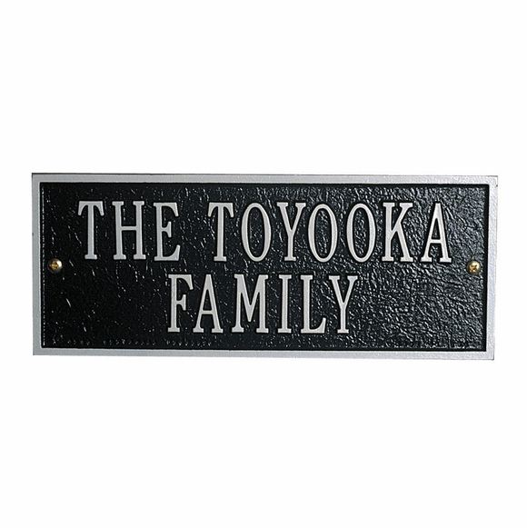 Personalized Family Name Sign - Custom Metal Plaque - Choose Your Color