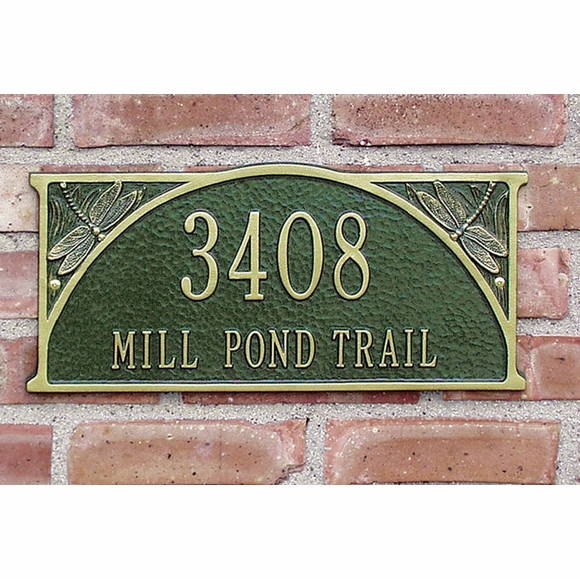 Dragonfly Semicircle Personalized Address Plaque